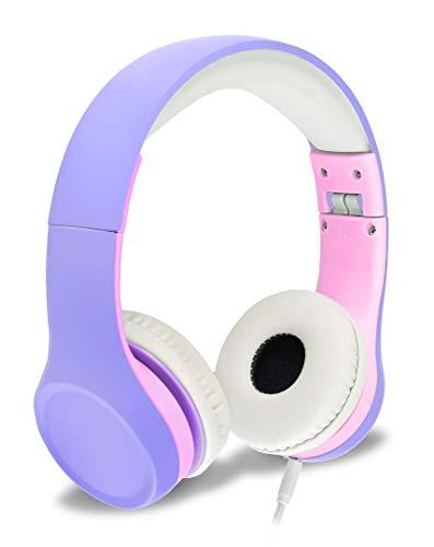 Nenos Kids Headphones Children's Headphones for Kids Toddler Headphones Limited Volume (Lavender)