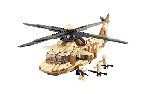 Sluban Military Blocks Army Bricks Toy – Black Hawk Helicopter (M38-B0509)
