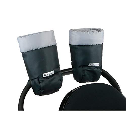 7AM Enfant Stroller Warmmuffs - Polar Hand Warmers with Anti- Freeze, Cold Weather, Water Repellent & Warm Hand Gloves for Pushchair, Pram, Stroller & Car Seat Bar
