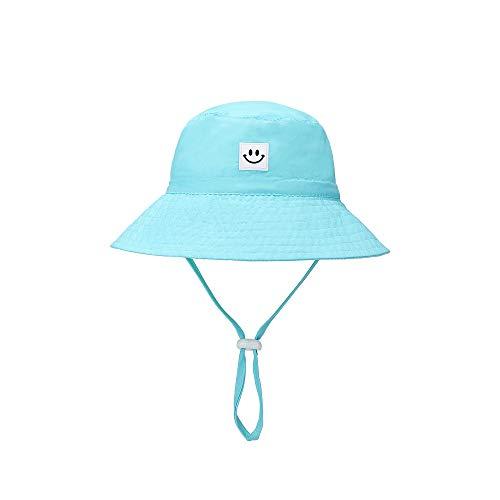 Baby Sun Hat Smile Face Toddler UPF 50+ Sun Protective Bucket hat Nice Beach hat for Baby Girl boy Adjustable Cap