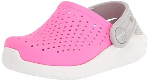 Crocs Kids' LiteRide Clog, Electric Pink/White, 6 US Unisex Toddler