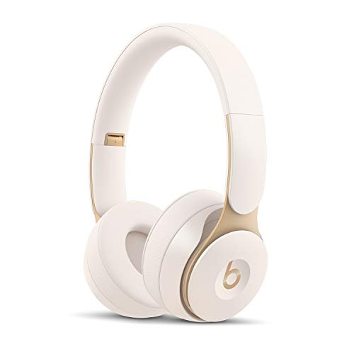 Beats Solo Pro Wireless Noise Cancelling On-Ear Headphones - Apple H1 Headphone Chip, Class 1 Bluetooth, 22 Hours of Listening Time, Built-in Microphone - Ivory