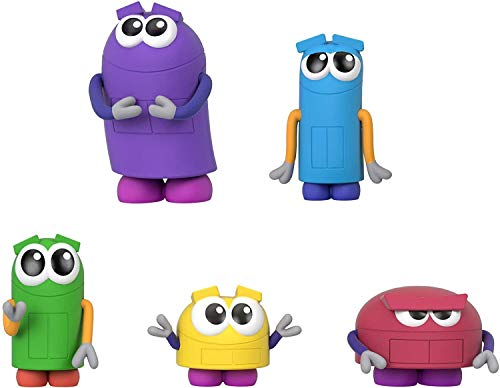 Fisher-Price StoryBots Figure Pack, set of 5 figures featuring characters from the Netflix series for preschool kids ages 3 years and older Purple, Blue, Green, Yellow, Pink