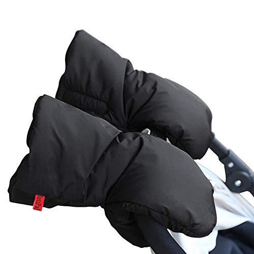 Warm Muff Stroller Gloves - INTIPAL Winter Anti-Freeze Extra Thick Waterproof Fabric Stroller Hand Muff - Black
