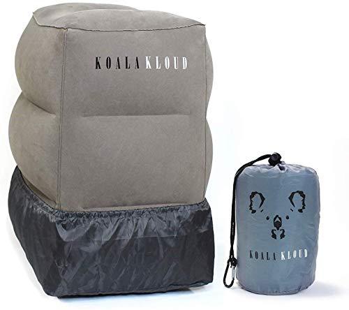 Koala Kloud Inflatable Foot Rest Airplane Footrest & Car Seat Foot Rest for Kids , Travel Legrest & Footstool , Kids Travel Pillow , Toddler Travel Foot Pillow Bed & Essentials - Grey