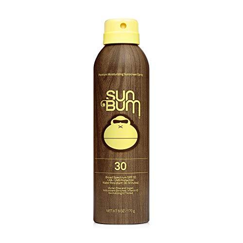 Sun Bum Original SPF 30 Sunscreen Spray I Vegan and Reef Friendly (Octinoxate & Oxybenzone Free) Broad Spectrum Moisturizing UVA/UVB Sunscreen with Vitamin E I 6 oz