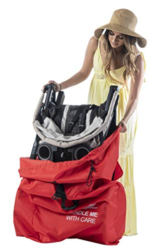 Travel Stroller Bag for Airplane Gate Check Bag for Stroller - Standard or Double Stroller Travel Bag for Airplane | Water- Resistant, Drawstring Closure with Over Flap Lock.