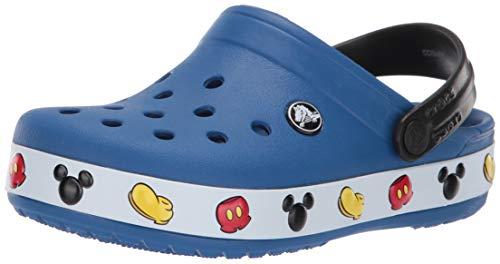 Crocs Kids Fun Lab Disney Clog | Mickey Minnie Mouse Shoes, blue jean, 4 M US Toddler