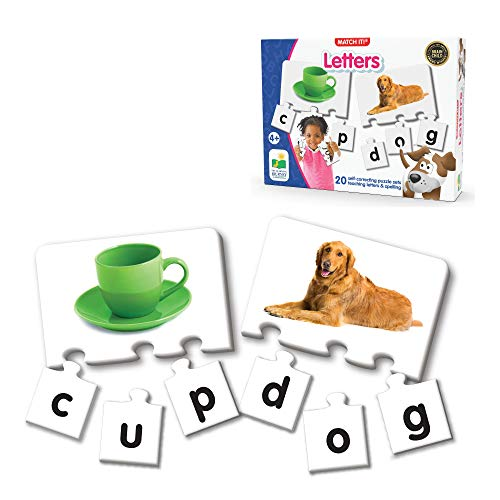 The Learning Journey: Match It! - Letters - 20 Piece Self-Correcting Spelling Puzzles for Three Letter Words with Matching Images - Learning to Read Games for Ages 4 and Up - Award Winning Toys
