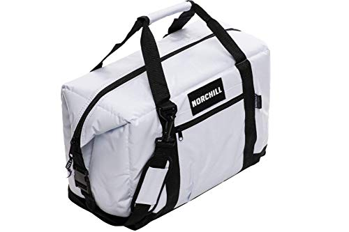 NorChill Soft Coolers 12 Can Boatbag Soft Sided Cooler Bag, White (9000.45)