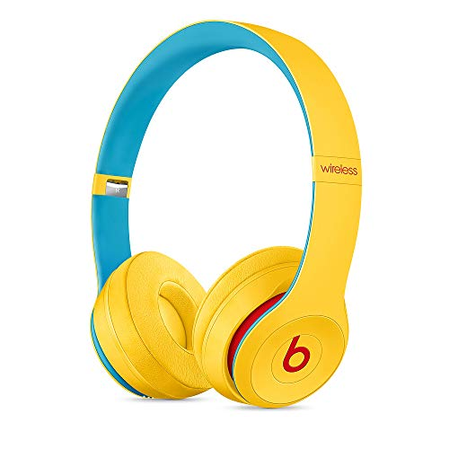 Beats Solo3 Wireless On-Ear Headphones - Apple W1 Headphone Chip, Class 1 Bluetooth, 40 Hours of Listening Time, Built-in Microphone - Club Yellow (Latest Model)