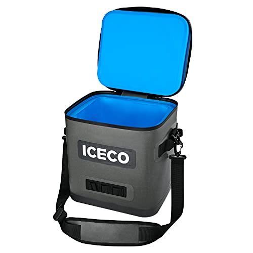 ICECO Soft Cooler Bag Insulated, Leak-Proof Zipper Waterproof Heavy Duty Cooler Bag with Shoulder Strap Bottle Opener Portable for Outdoor Travel Camping Fishing Picnic Beach
