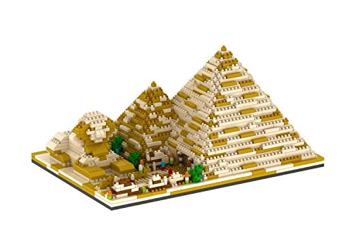dOvOb Architecture Pyramid of Khufu Micro Block Building Set 3D Puzzle Toy (1456 pcs) Gift for Adults and Kids
