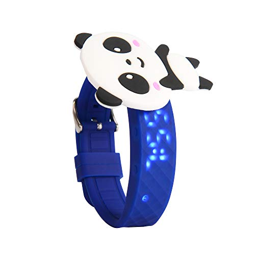 Potty Training Wrist Potty Watches for Toddler Boys | Water Resistant Timer Watch for Boys Blue Band | Rechargeable Potty Training Count Down Alarm Timer with Panda Rewards Prize