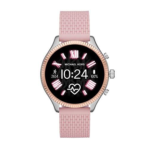 Michael Kors Women's Lexington 2 Silicone Touchscreen Smartwatch , Color: Pink (Model: MKT5112)