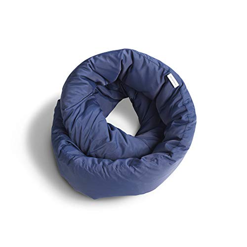 Huzi Infinity Pillow - Home Travel Soft Neck Scarf Support Sleep (Navy)