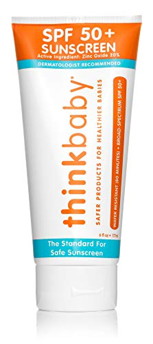 Baby Sunscreen Natural Sunblock from Thinkbaby, Safe, Water Resistant Sunscreen - SPF 50+ (6 ounce)
