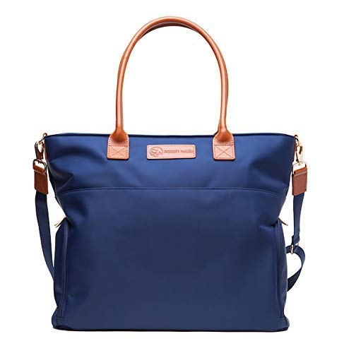 Sarah Wells Abby Breast Pump Bag with Real Leather Straps (Navy)