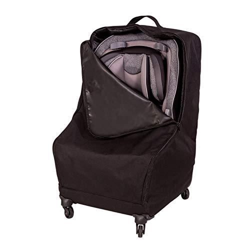 J.L. Childress Spinner Wheelie Deluxe Car Seat Travel Bag, Black,One Size