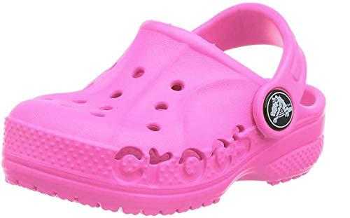 Crocs Kids Baya Clog, Neon Magenta, 4 US Unisex Toddler