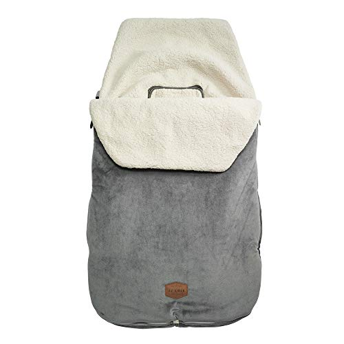 JJ Cole Original Bundleme Canopy Style Bunting Bag, Graphite Gray, 36x18x2.5 Inch (Pack of 1)