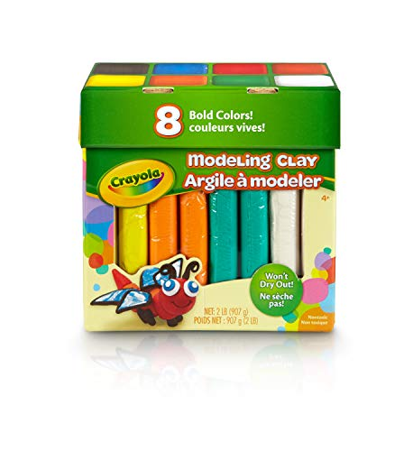 Crayola Modeling Clay in Bold Colors, 2lbs, Gift for Kids, Ages 4 & Up