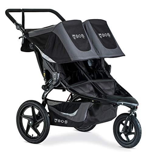 BOB Gear Revolution Flex 3.0 Duallie Double Jogging Stroller, Graphite Black