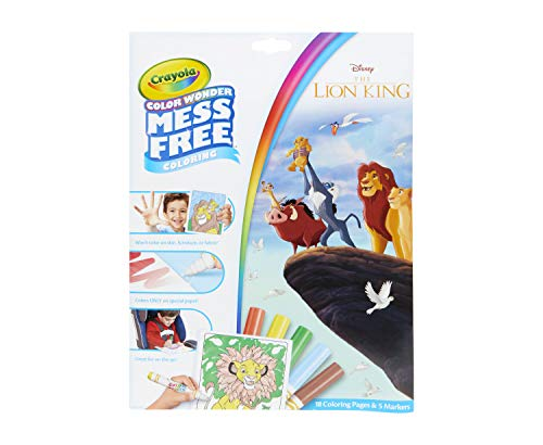 Crayola Lion King Pages & Markers Color Wonder Pad and Markers, 23 Piece Set, Multicolor