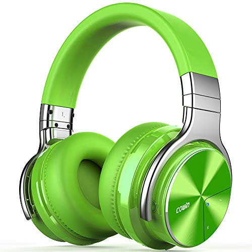 COWIN E7 Pro Active Noise Cancelling Headphones Bluetooth Headphones Wireless Headphones Over Ear with Mic/Deep Bass, 30H Playtime for Travel/Work/TV/Computer/Cellphone - Green