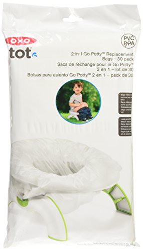 OXO Tot 2-in-1 Go Potty Refill Bags, 30 Count , White