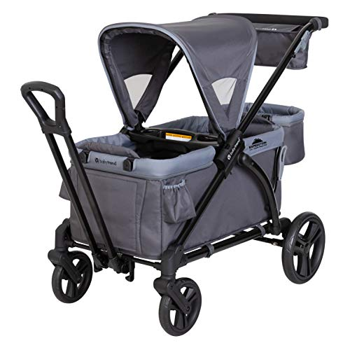 Baby Trend Expedition 2-in-1 Stroller Wagon PLUS, Ultra Grey