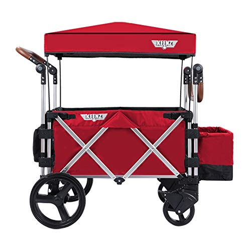 Keenz Stroller Wagon – 7S Pull/Push Wagon Stroller – Safe and Secure Baby Wagon Stroller and Stroller for Big Kids – Versatile Wagon Stroller Ideal for Special Needs, Red