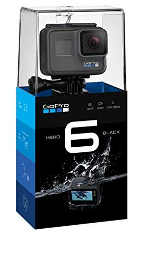 GoPro HERO6 Black — Waterproof Digital Action Camera for Travel with Touch Screen 4K HD Video 12MP Photos