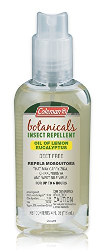 Coleman Naturally-Based DEET Free Lemon Eucalyptus Insect Repellent - 4 oz Bottle