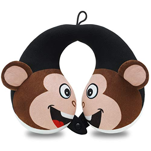 COOLBEBE Kids Neck Travel Pillow, Remarkable Head Chin Neck Support U-Shaped Animal Pillows for Child, Toddlers – Relax and Sleep Soundly Anytime Anywhere