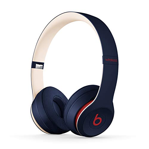 Beats Solo3 Wireless On-Ear Headphones - Apple W1 Headphone Chip, Class 1 Bluetooth, 40 Hours of Listening Time, Built-in Microphone - Club Navy (Latest Model)