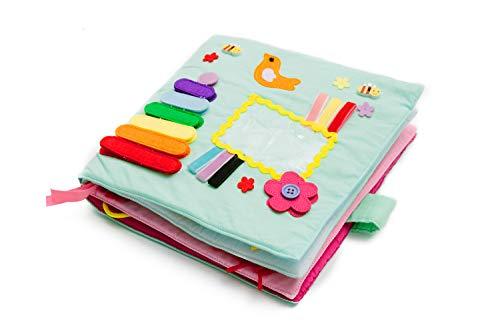 LoveLnE Play with Quiet Book, Montessori Toy Book, Creative and Basic Skill, Educational Toy, Toddler Activity Book, Busy Book, Toy Book