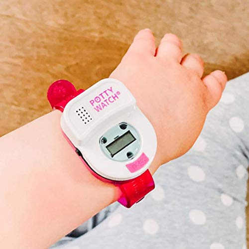 Potty Time: The Original Potty Watch   Newly Improved 2020 ~ Water Resistant   Toddler Toilet Training Aid, Warranty Included (Automatic Timers with Music for Gentle Reminders) (Pink)