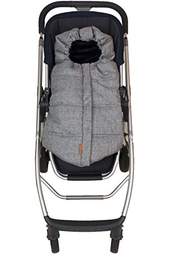 liuliuby CozyMuff (Original) - Warm Stroller Footmuff with Temperature Control - Universal Baby Bunting Bag for Cold Weather - Outdoor Sleeping Bag (Infant Size, Heather Gray)