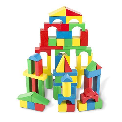 Melissa & Doug Wooden Building Blocks