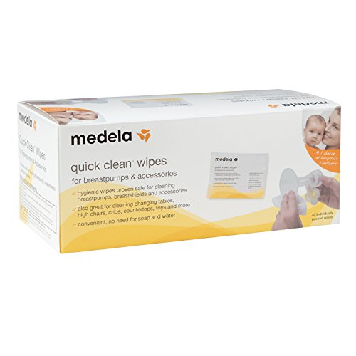 Medela Quick Clean Breast Pump and Accessory Wipes, 40 Count