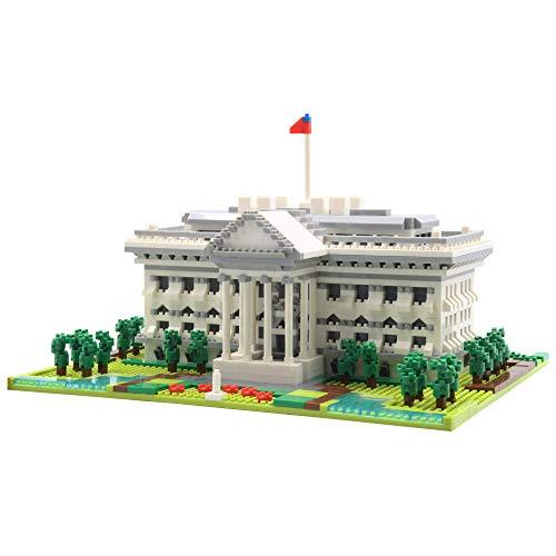 dOvOb Architecture White House Micro Mini Blocks (2021PCS) - 3D Puzzle Building Blocks Set Toys for Kids or Adult