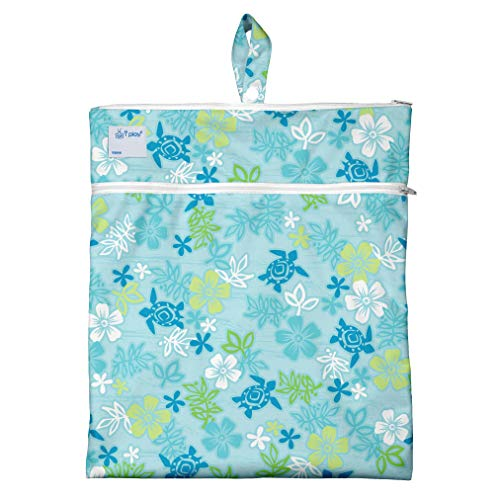 i play. by green sprouts baby girls & Wet Dry Bag Aqua Hawaiian Turtle, Aqua Hawaiian Turtle, One-Size US