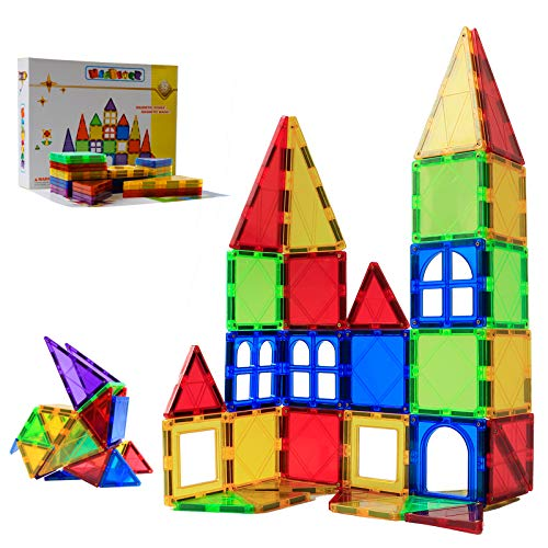 MAGBLOCK Magnetic Blocks - Magnetic Tiles for Kids - 3D Magnetic Building Blocks for Toddlers Building Blocks with Clear Color Educational Toys Set 32 Pieces