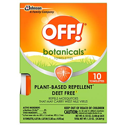 OFF! Botanicals Mosquito Repellent Towelettes