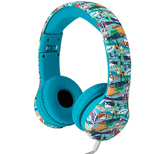 Snug Play+ Kids Headphones with Volume Limiting for Toddlers (Boys/Girls) - Beach