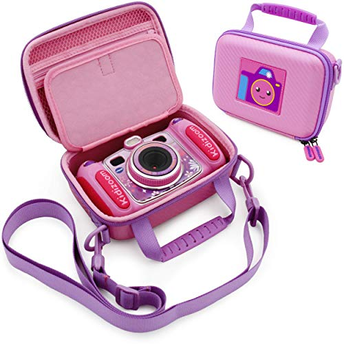 CASEMATIX Pink Camera Case Compatible with VTech KidiZoom Camera - Protective Travel Case with Shoulder Strap Compatible with VTech KidiZoom Duo Selfie Cam, Pix, Twist Connect and More!