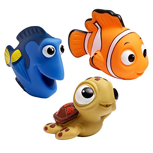 The First Years Disney Finding Nemo Baby Bath Squirt Toys for Sensory Play