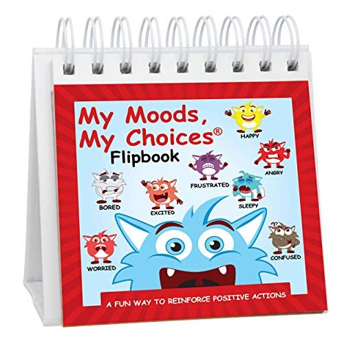 The Original Mood Flipbook for Kids; 20 Different Moods/Emotions; Autism; ADHD; Help Kids Identify Feelings and Make Positive Choices; Laminated Pages (Monster Flipbook)