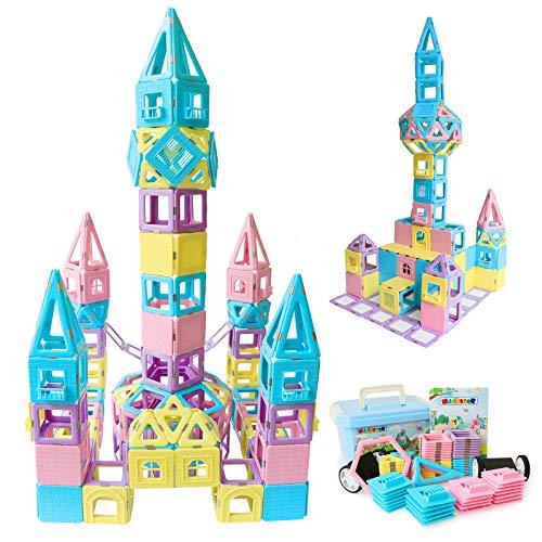 MAGBLOCK Magnetic Building Blocks STEM Educational Toys Tiles Set for Boys & Girls Magnet Stacking Block Sets for Kid's Basic Skills Learning & Development Toys-Great Gifts 103PCS